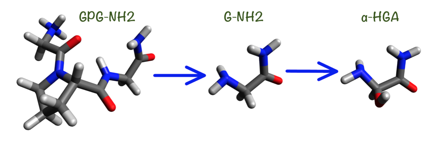 How is the hydration structure of GPG-NH2 prodrug affected by hydroxylation and fluorination