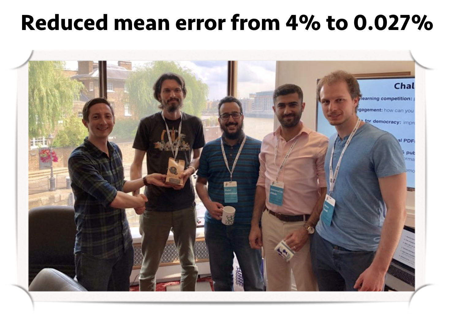 Congratulations to Mohamed Ali Al-Badri for winning a machine learning competition at PyData2019
