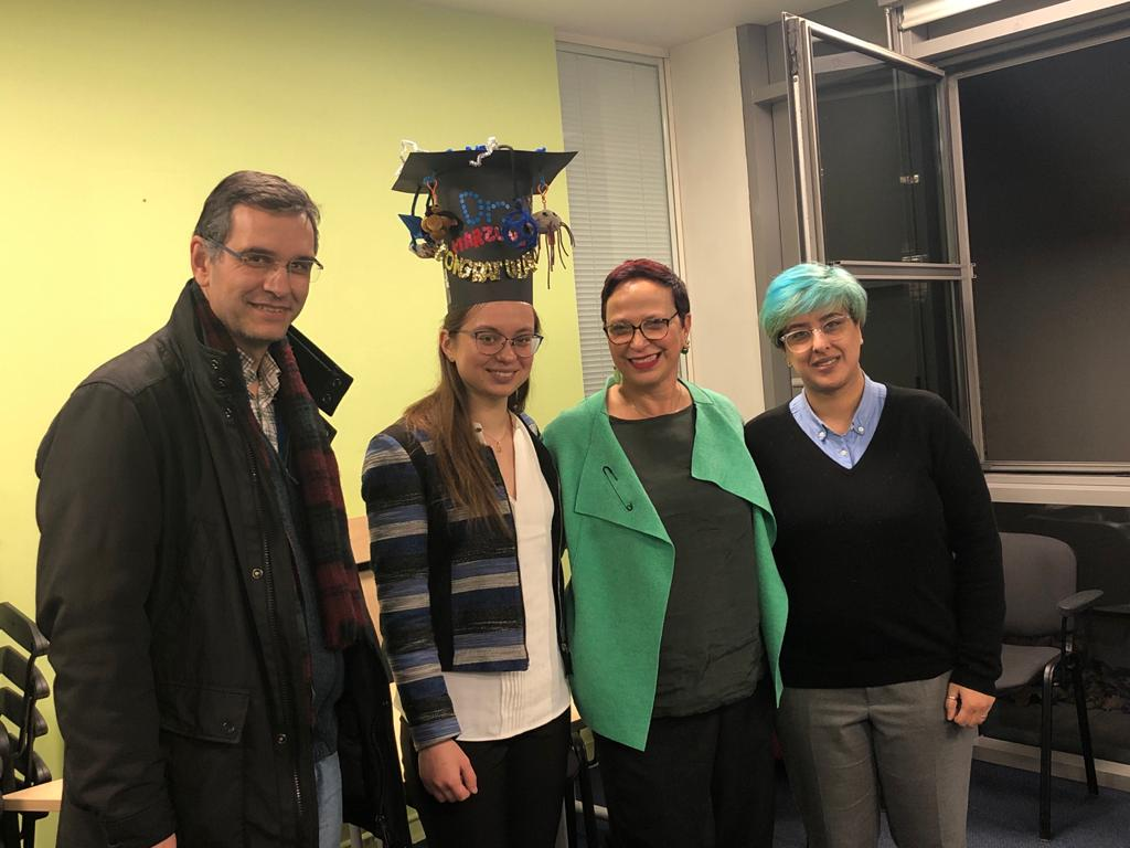 Congratulations to Irene Marzuoli on successfully defending her PhD thesis!